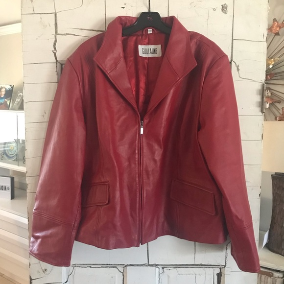 e1534c5850 Guillaume Jackets   Blazers - Sale⚡️Guillaume 3X plus size red leather  jacket